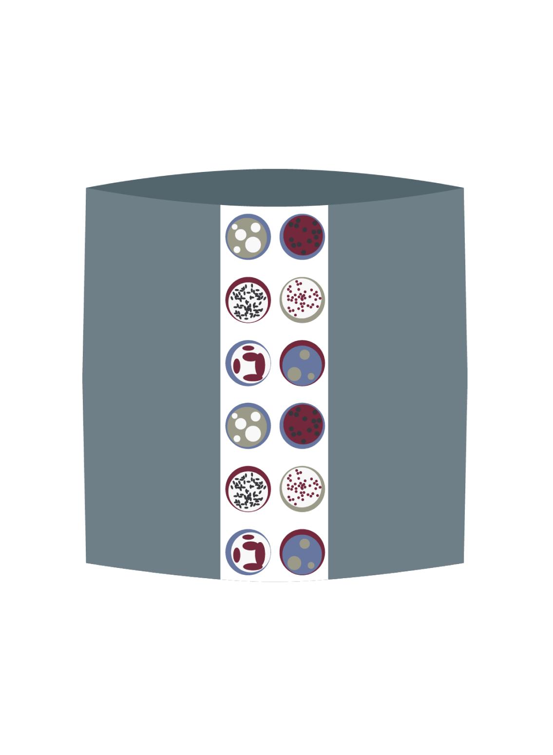 Weicher Loopschal aus Baumwolle aus kontrolliert Biologischem Anbau von berliner Modelabel Sekai Colori