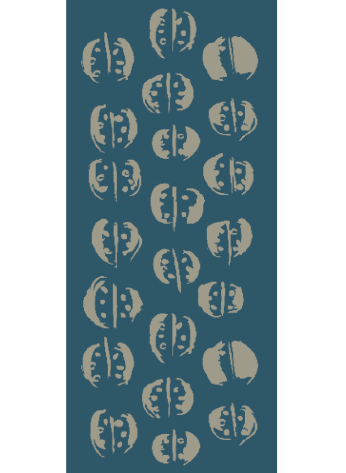 Damenschal bedruckt mit Zucchini Motiv aus hochwertiger Biobaumwolle