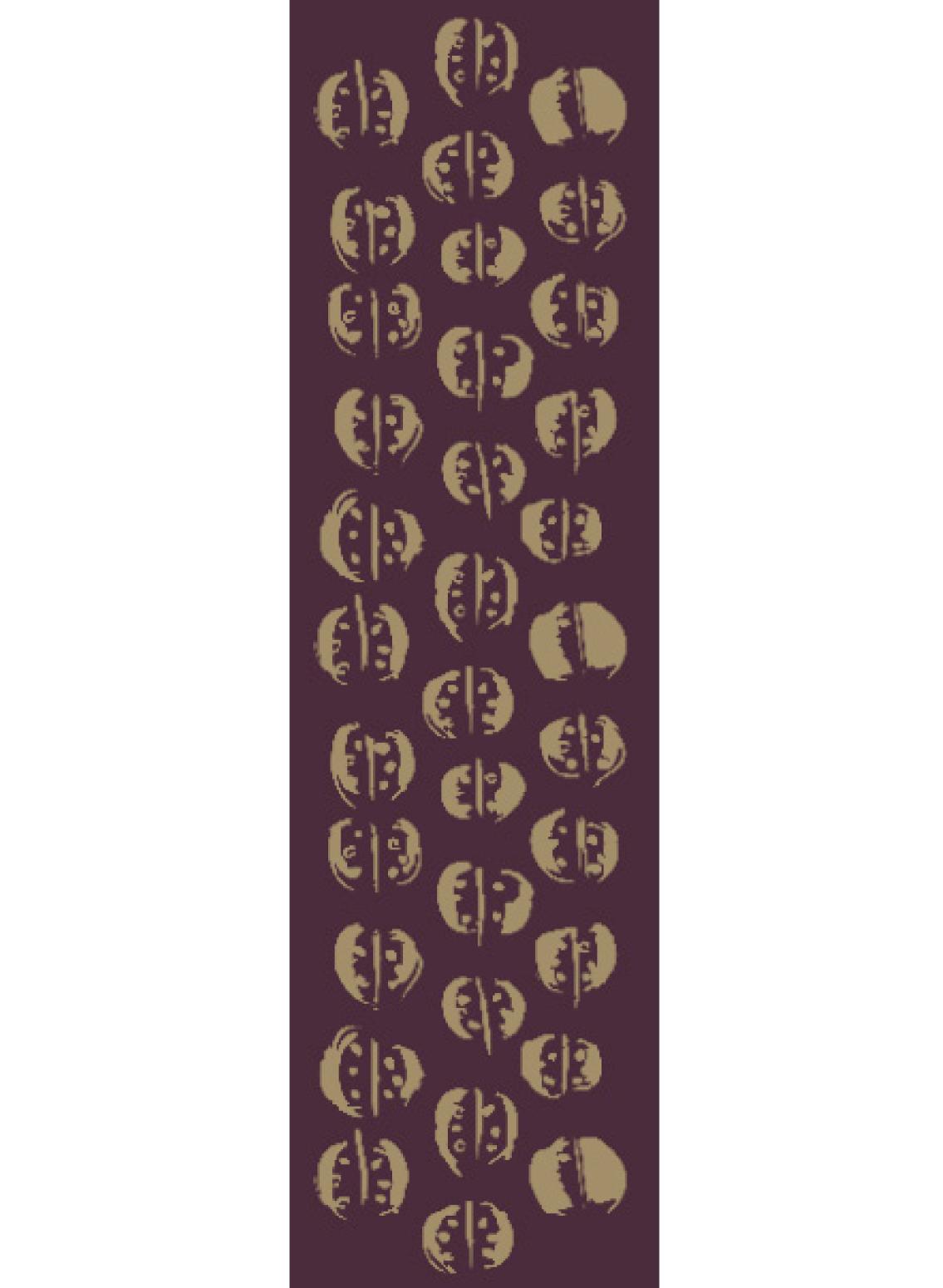 Bedruckter Schal für Herren mit japanischem Druck vom Modelabel Sekai Colori