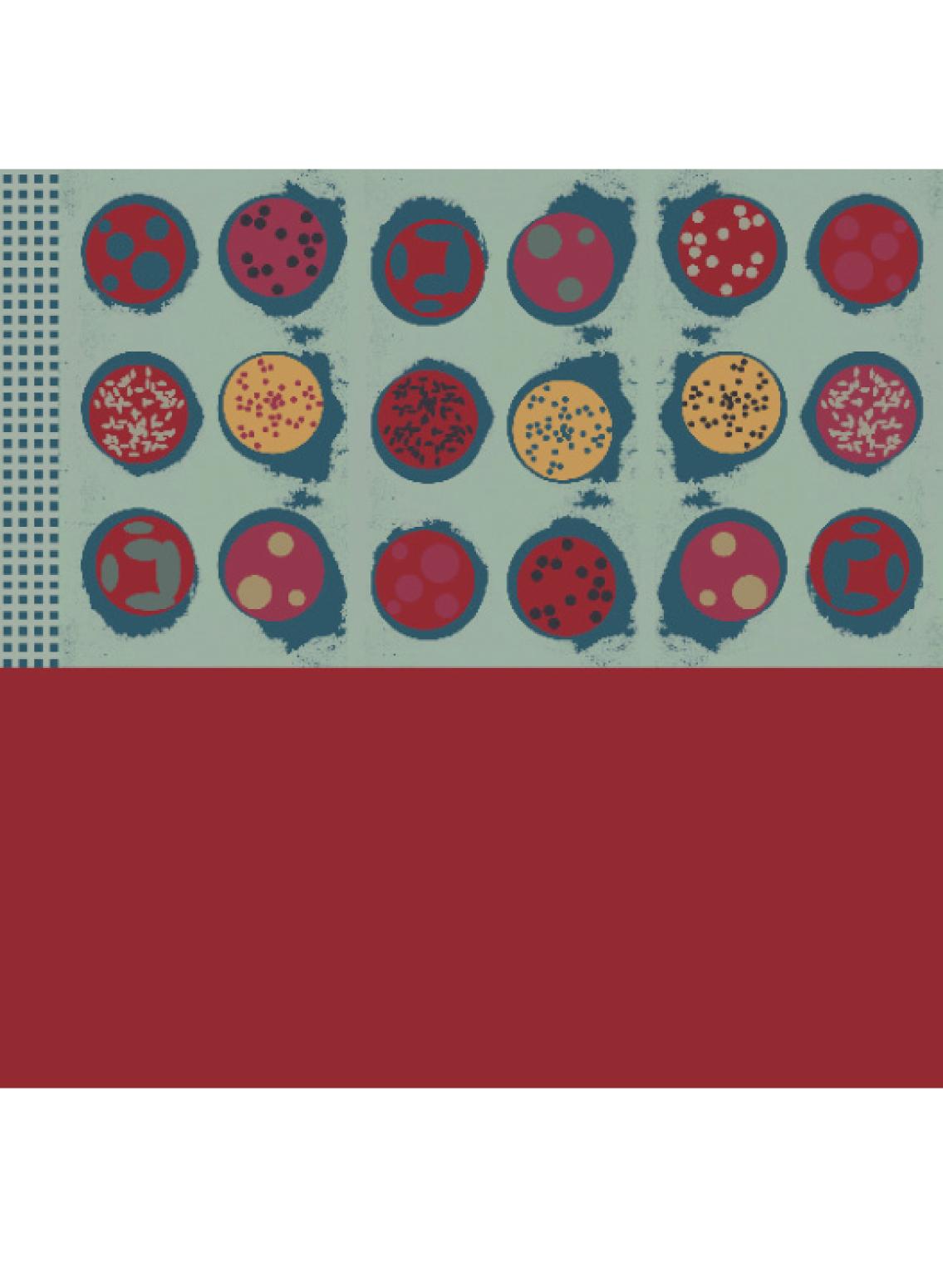 Großes Tuch aus Biobaumwoll-Voile bedruckt mit Onigiriprint vom Label Sekai Colori