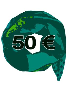 Gutschein im Wert von 50 Euro für Sekai Colori Schal- und Tüchershop Made in Berlin