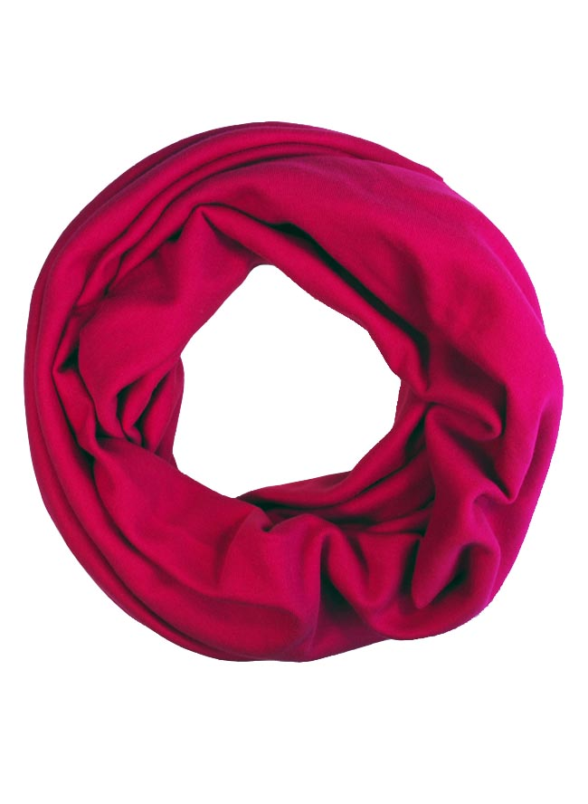 Loop aus Biojersey in Beere Pink für Damen