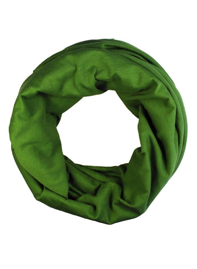 Loop in sommerlichem Kiwi Grün aus leichter Biobaumwolle