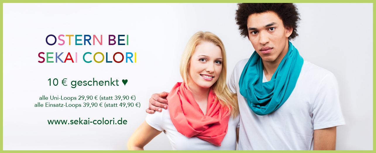 Osteraktion 2017 bei Sekai Colori 10 Euro geschenkt auf alle Loops aus Biobaumwolle