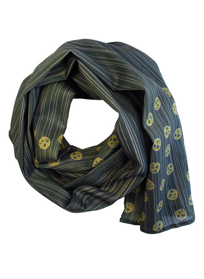 Schal für Herren bedruckt mit Pasta Pomodoro in Moosgrün