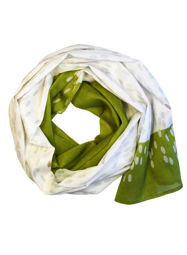 Schal für Damen mit Druck Reis in Kiwigrün