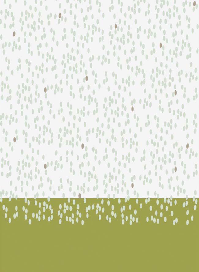 Schal für Damen Reisdruck Kiwigrün Grafik