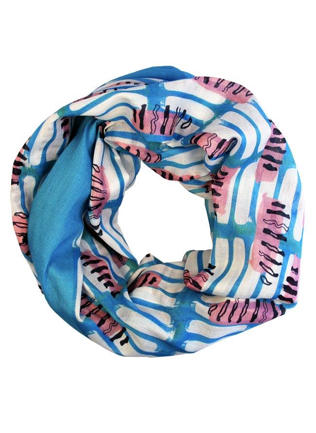 Schlauchtuch für Damen Fusilli Farbe Ozean