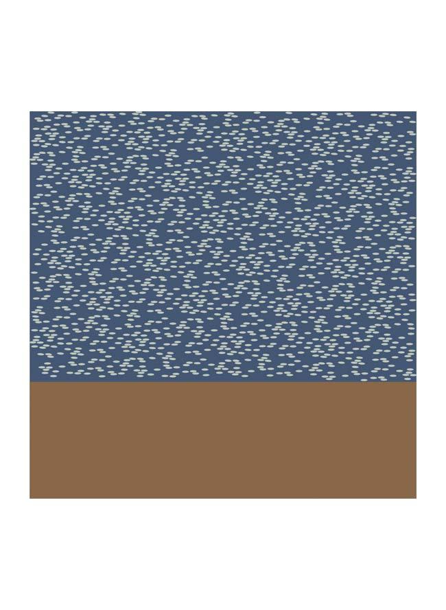 Tuch Herren Reis Azurblau Grafik