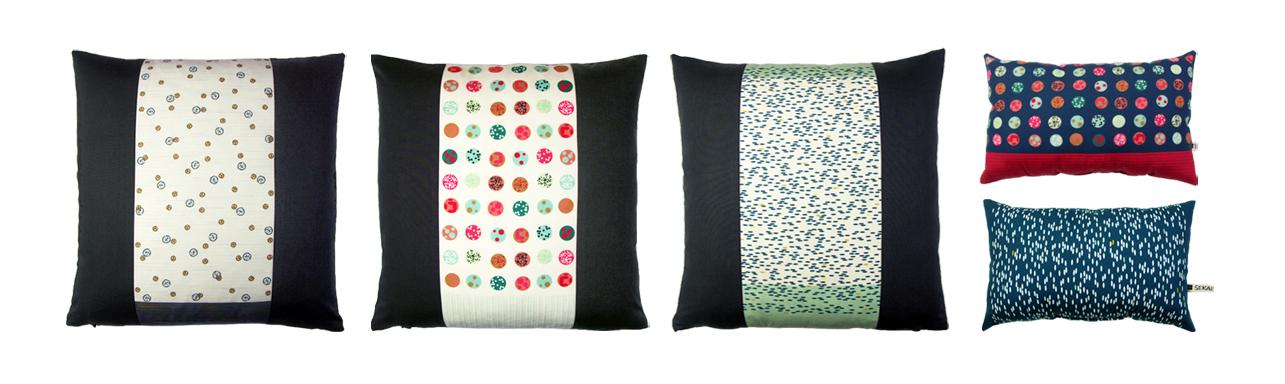 Hochwertige Kissen aus 100 % Biobaumwolle bedruckt