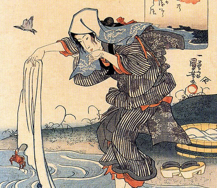 Japanische Malerei mit Tenugui