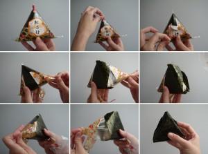Onigiri besondere Verpackung