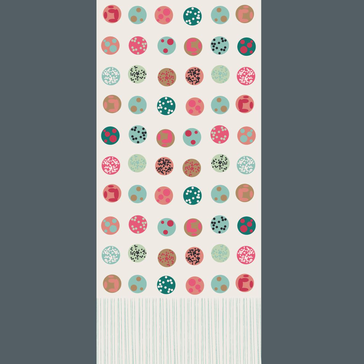 Kissen mit Print Onigiri in 40 x 40 und 50 x 50 Biobaumwolle digital bedruckt