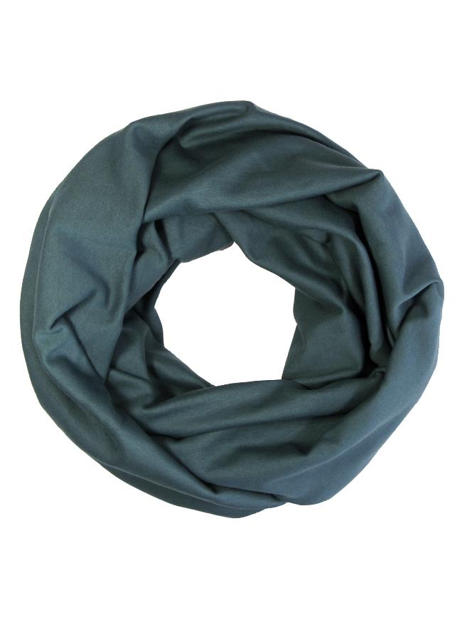 Loop in dunklem Grünblau Tiefsee aus Biobaumwolle für Damen und Herren