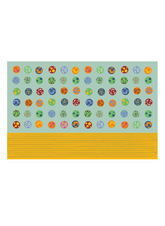Kinderkissen Onigiri Mint aus Biobaumwolle Grafik