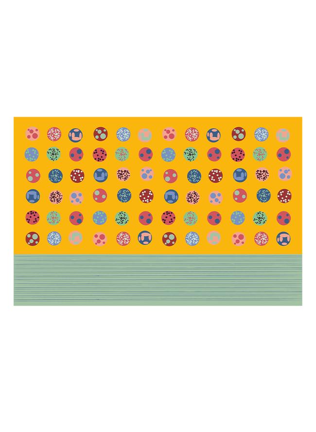 Kinderkissen Onigiri Senf aus Biobaumwolle Grafik