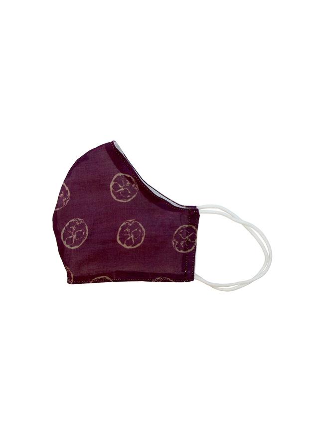 Mund-Nasen Bedeckung Pomodoro Aubergine aus Biobaumwolle
